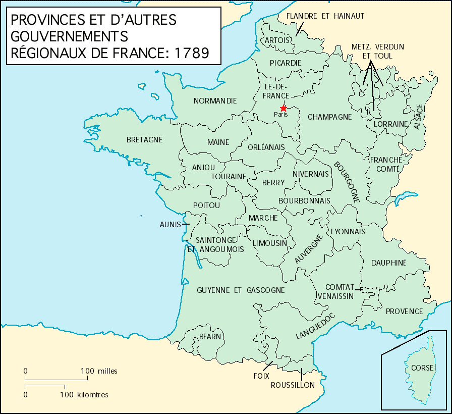 Map Of France In 1789.French Web Resources Maps