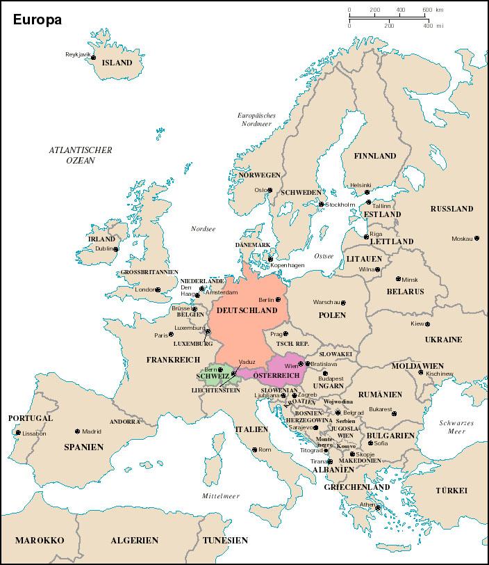 German Language Resources: Maps