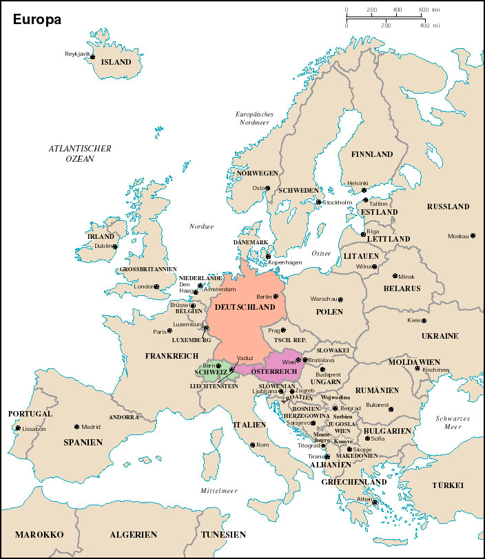 Resources Map Of Europe.German Web Resources Maps