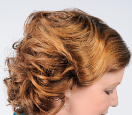 Comb out for ridge curl