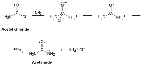 Solved: 6-46  Ammonia Reacts With Acetyl Chloride To Giv