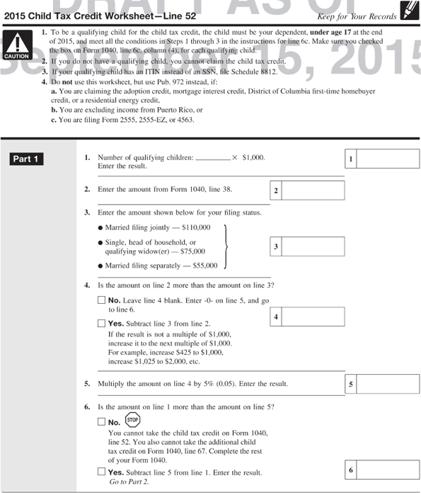 Gregory R And Lulu B Clifden Live With Their Fam – Child Tax Credit Worksheet